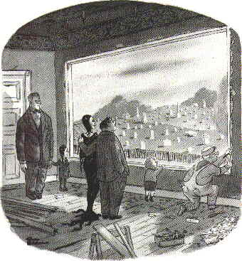 The Addams Family and their new picture window. Artist: Charles Addams.