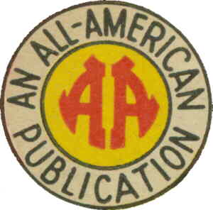 The All-American Comics company logo.