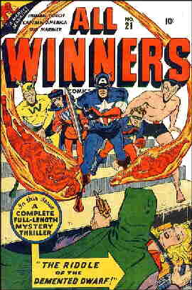 Second of two All Winners Squad covers. Artists: Al Avison and Charles Nicholas.