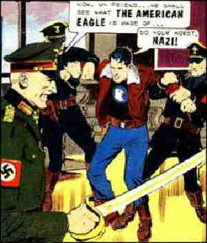 The American Eagle tells it to a Nazi.