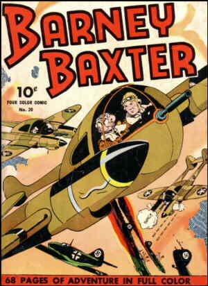 Barney Baxter flies alongside his pal, Gopher Gus. Artist: Frank Miller.