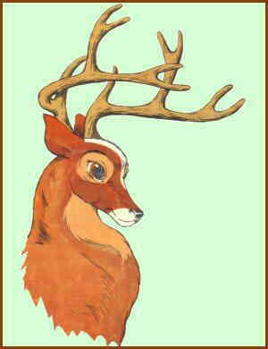 Bambi, fully grown. Artist: Ken Hultgren.
