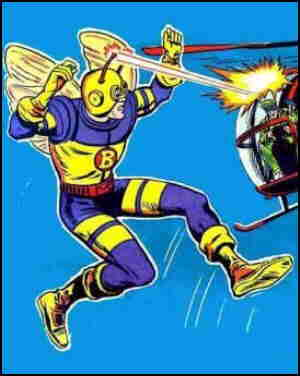 Bee-Man in action. Artist: Jack Sparling