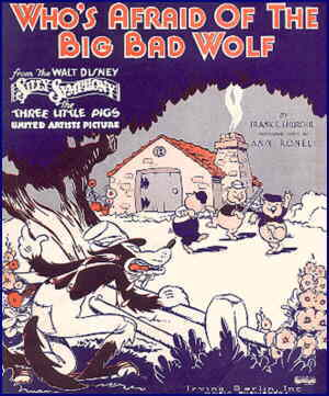 Classic sheet music about The Big Bad Wolf.