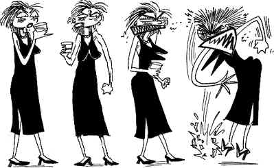 Four Phases of Bitchy. Artist: Roberta Gregory.