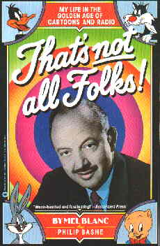 Cover of Mel Blanc's 1988 autobiography.