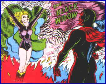 The Black Widow greets her master. Artist: Harry Sahle.