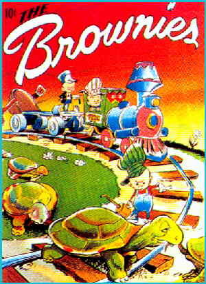 Cover of the first 'Brownies' comic book. Artist: Walt Kelly.