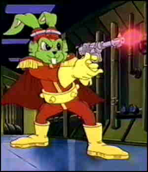 Bucky O'Hare in action.