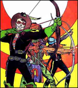 Bullseye meets other marksmen. Artists: Simon & Kirby.