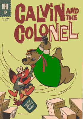 Cover of the first Calvin & the Colonel comic book.