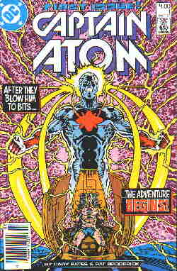 Cover of DC's first Captain Atom issue.