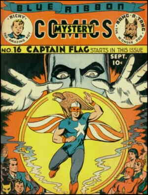 Cover of Captain Flag's introductory issue. Artist: Sam Cooper.