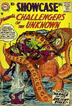 The Challengers take on the Unknown. Artist: Jack Kirby.