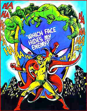The Creeper rails at his enemies. Artist: Steve Ditko.