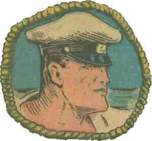 Captain Savage head shot. Artist: Charles A Winter.