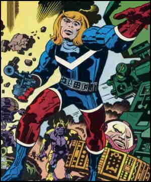 Captain Victory, from the cover of his first issue. Artist: Jack Kirby.