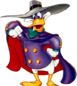 Darkwing Duck. From a publicity drawing.