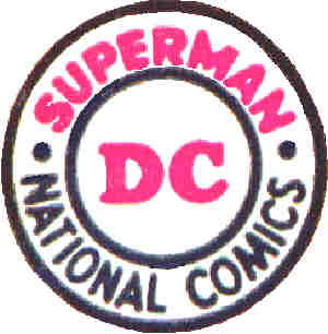 DC's logo, as it appeared in the 1950s.