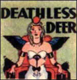 Deathless Deer introductory panel. Artist: Neysa McMein.