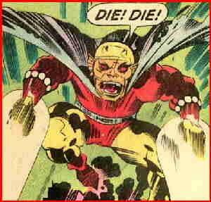 Etrigan in action. Artist: Jack Kirby.