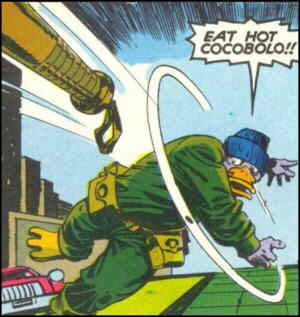 Destroyer Duck. Artists: Jack Kirby and Alfredo Alcala.