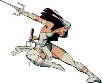 Elektra as she originally looked.