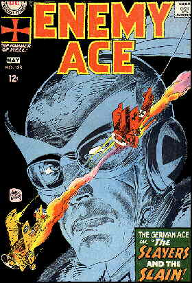 Enemy Ace begins his series in Star Spangled War Stories. Artist: Joe Kubert.