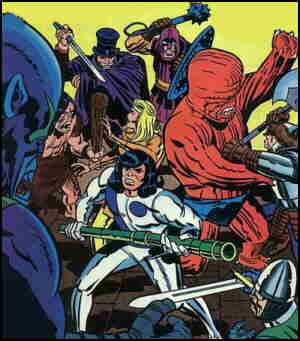 From the cover of a 1980s issue. Artist: Jack Kirby.