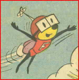 Fearless Fly flies. From his only comic book appearance.