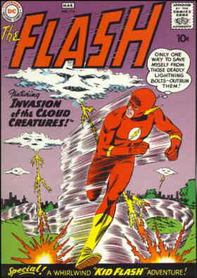 The Flash: A 1960 comic book cover. Artist: Carmine Infantino.