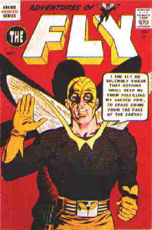 The Fly: A 1959 comic book cover.