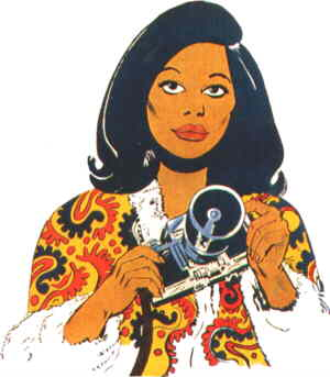 Friday Foster, from the cover of the 1972 comic book.