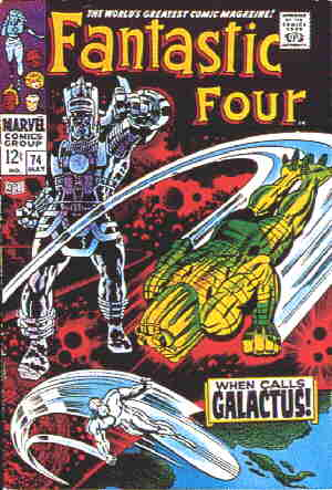 Galactus (gesturing imperiously), on a 1968 cover. Artist: Jack Kirby.