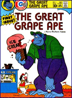 Cover of a Grape Ape comic book.