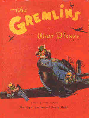 Cover of Roald Dahl's 'Gremlins' book.