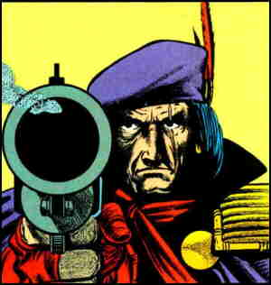 Grimjack looking appropriately menacing. Artist: Timothy Truman.