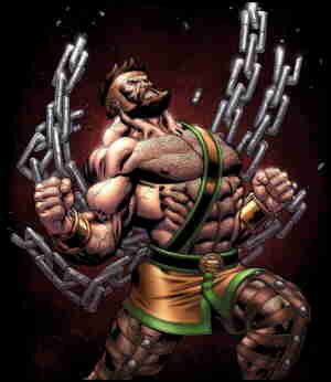 Herc, in a typically mighty pose. Artist: Ed McGuiness.
