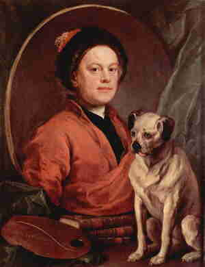 William Hogarth self-portrait.