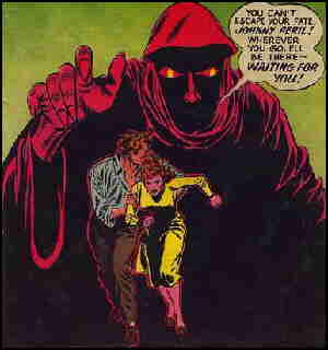 Johnny and friend try to escape fate. Artists: Carmine Infantino and John Giunta.