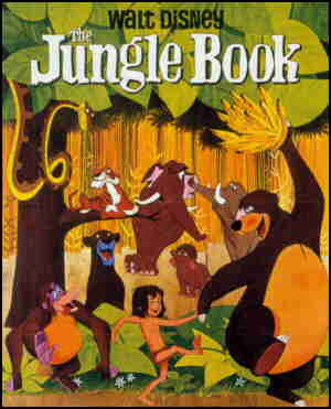 Poster for The Jungle Book original release (top and bottom verbiage cropped).