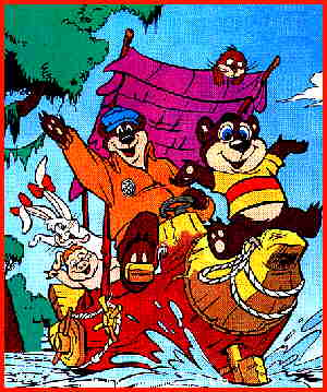 Kissyfur and crew, from the cover of the comic book.