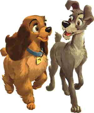 Lady and the Tramp, from the cover of the comic book adaptation.