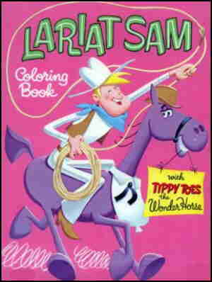 Cover of a Lariat Sam coloring book.