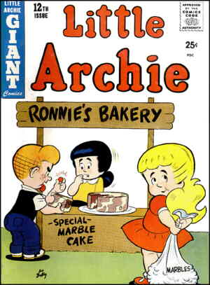 Little Archie, Little Veronica and Little Betty. Artist: Bob Bolling.
