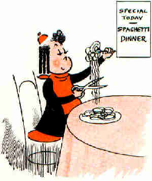 A 'Little Lulu' cartoon by 'Marge'.