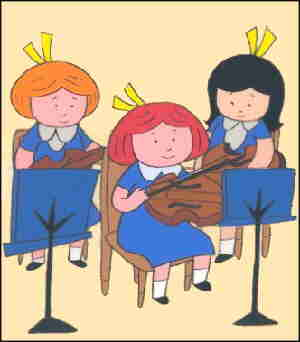 Madeline and a couple of her school chums.