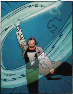 Kevin wields his bat. Artist: Matt Wagner.