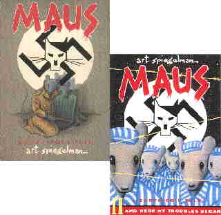 Maus: Covers of the original two volume version. Artist: Art Spiegelman.