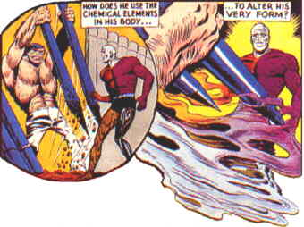 Metamorpho does his stuff. Artist: Ramona Fradon.